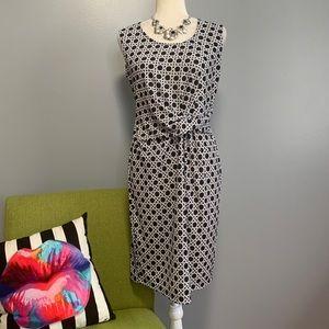 The Limited Twist Front Geometric Sheath Dress